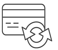 Outline art of a credit card